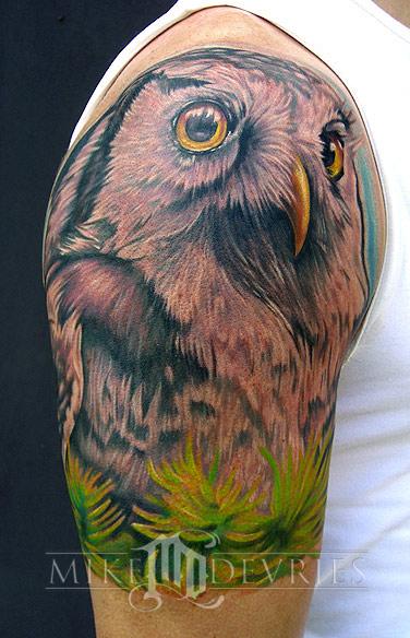 Mike DeVries - Owl Tattoo